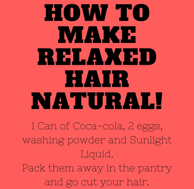How to make Relaxed hair natural!